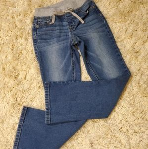 Justice Knit Waist Boot Cut Jeans Size 8 Slim